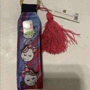 Simply Southern Lip Balm Holder Key Fob Unicorn